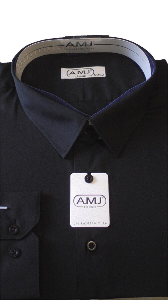 c9ebe88574d Pánská košile černá-nadměrná velikost