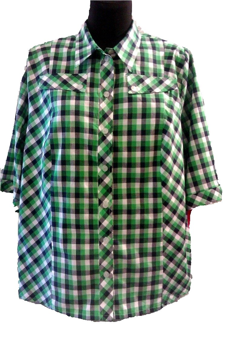 Košile kostkovaná zelená ac3568cdb0