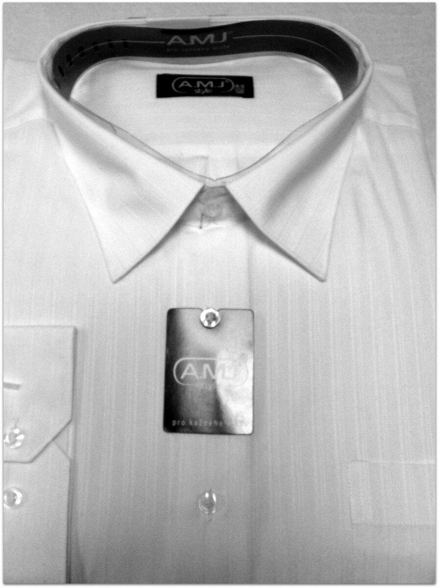 dfd09a7fc53 Pánská společenská košile bílá nadměrná