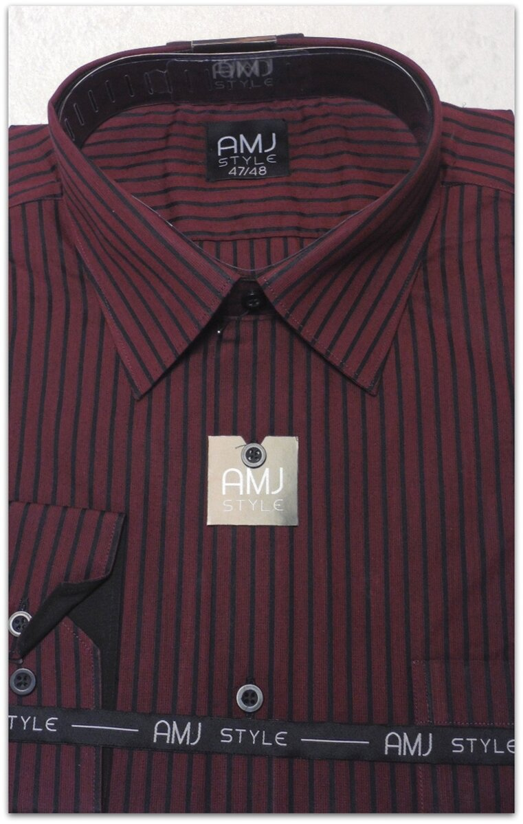 fa34cf4cd07 Pánská košile-proužek-nadměrné velikosti